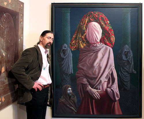 Benedetto und Verhüllte Muse im Phantastenmuseum