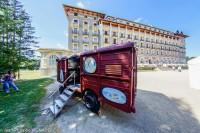 Font Romeu Wagon devant le Grand Hôtel