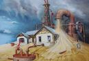 Eberhard Marx in der Fine Art Gallery in Swakopmund (NA)